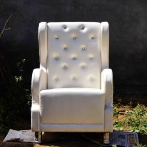 Wingback Chair, Accent Chair, Furniture Store, White